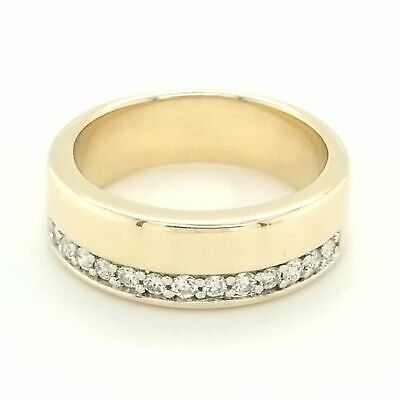AU650 • Buy 9ct YELLOW GOLD DIAMOND GENTS RING TDW 20pts - VALUED @ $1199