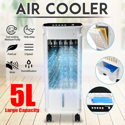 AU69.99 • Buy 5L Portable Air Conditioner Air Cooler Fan Ice Cooling Humidifier Purifier Cool