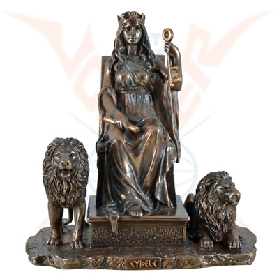 Cybele Greek Mother Of Gods On Throne Cold Cast Bronze Statue By Veronese.Great. • 64.50£