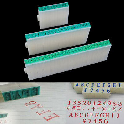 1 Set English Alphabet Letters Numbers Rubber Stamp Free Combination Diy Craf Fw • 4.76£