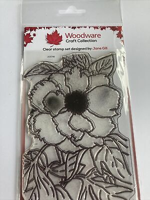 Woodware Clear Stamp Set  - Peony By Jane Gill JGS748 • 1.30£