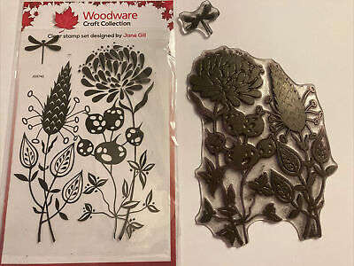 Woodware Clear Stamp Set -  Autumn Pods By Jane Gill JGS742 • 2.20£