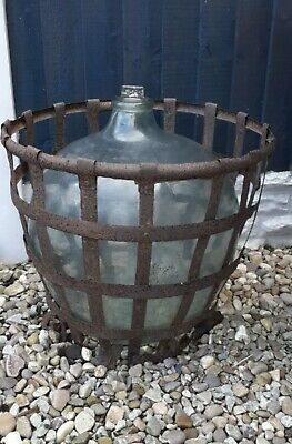 Original Large 18th Century Carboy Terrarium Glass Bottle With Unopened Stopper • 125£