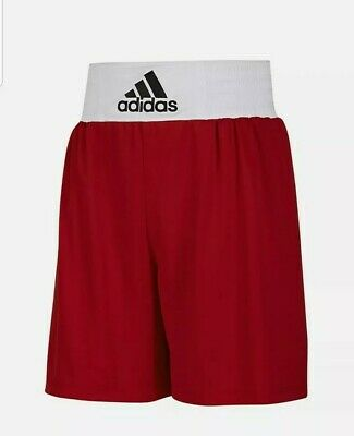 £12.99 • Buy Mens Adidas Boxing Shorts Base Punch White Collar - BNWT Size S Red
