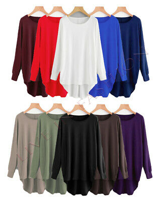Women Baggy Oversized Loose Fit Batwing Sleeve T Shirt Top Ladies Baggy Top  • 9.99£