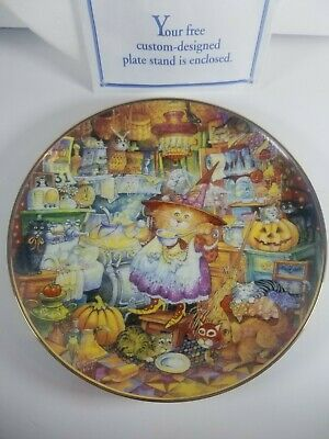 £3.59 • Buy VTG Halloween Scaredy Cats Franklin Mint Decorative Cat Plate-Bill Bell & Stand