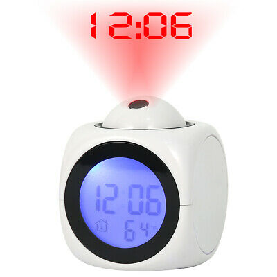AU18.99 • Buy LED Projection Smart Digital Alarm Clock LCD Display Time Temperature Projector