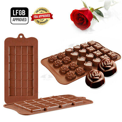 AU8.09 • Buy 3D Silicone Chocolate Mould Cake Baking Cooking Ice Tray Candy Cookies DIY Tool