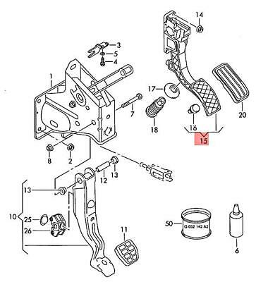 AU153.73 • Buy Genuine VW SEAT Beetle Accelerator Pedal With Electronic Module 6Q1723503N