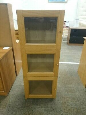 Ikea Billy Byom Bookcase With Glass Doors • 30£