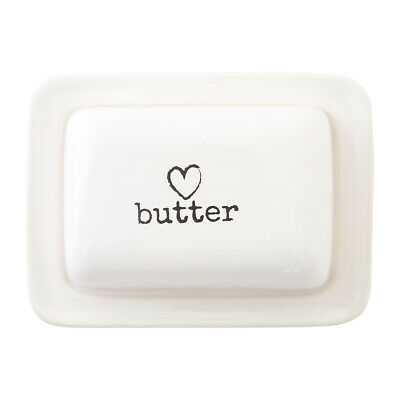 £11.40 • Buy Premier Housewares Charm Butter Dish, White Heart Traditional Homely