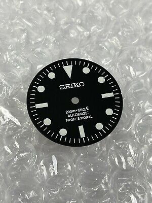 $ CDN44.19 • Buy Seiko Sub Black Aftermarket Dial Mod NH35 NH36 Green Lume Vintage No DATE Window