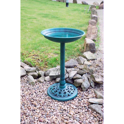 Bird Bath Feeder Bowl With Solar Light Garden & Patio Bird Feeding Table Station • 22.55£