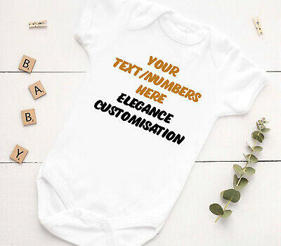 £3.79 • Buy Personalised Baby Vest - Personalise A Baby Grow With Your Text Here Shower Gift