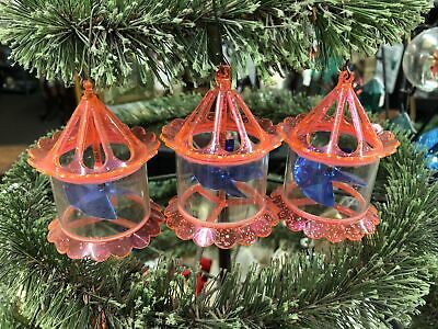 $ CDN189.82 • Buy 3 Vintage Pink Birdcage Motion Spinner Christmas Tree Ornaments Decorations