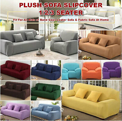 AU25.99 • Buy 1 2 3 Seater Sofa Cover Stretch Couch Lounge Recliner Chair Slipcover Protector