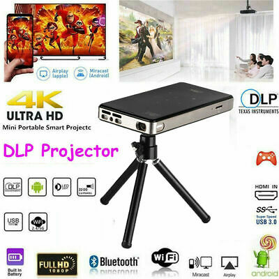Mini Pocket 7000 Lumens DLP Wifi Home Theater Projector HD 1080P Cinema HDMI USB • 167.89£