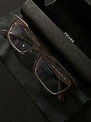 Prada Glasses Frames Brown Spotted With Original Case & Bag -made In Italy- • 80£