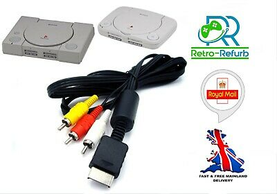 £2.85 • Buy Playstation 1 PS1 PSONE AV Cable TV Lead Composite Video Audio RCA - UK Fast P&P
