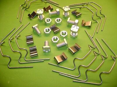 Greenhouse Repair Kits 20 To 150 W Clips + Z Clips + Squareor Cropped Nuts+ Bolt • 9.90£