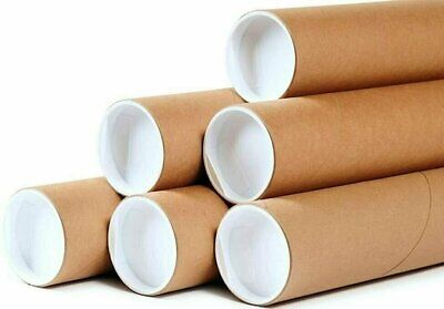 $36.23 • Buy 50 - 2  X 15  Round Cardboard Shipping Mailing Tube Tubes With End Caps
