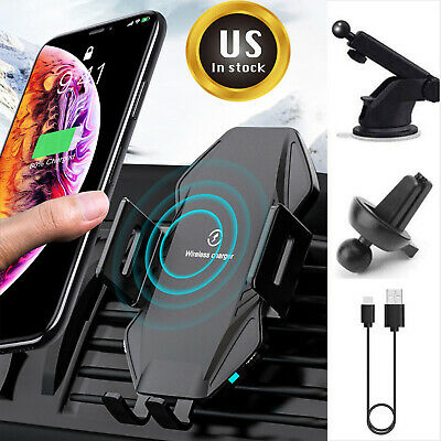 AU26.99 • Buy Qi Wireless Car Charger Auto Clamping Mount Fast Charging Air Vent Phone Holder
