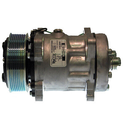 AU503.95 • Buy A/C Compressor Genuine Sanden SD7H15 4764 155cc Poly-V 8 Rib Vertical 119mm 24v