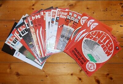 1970's MANCHESTER UNITED HOME FOOTBALL PROGRAMMES - Your Choice - FREE Postage • 2.50£