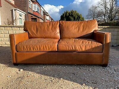 Halo Viscount Leather 2/3 Seater Chesterfield Sofa Rrp £2199 🚚 🇬🇧 • 799£