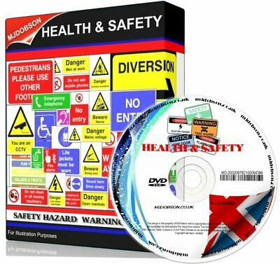 £4.95 • Buy Health And Safety Hazard & Warning Signs + Posters Dvd