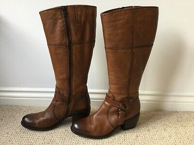 Clarks Leather Tan Boots Ladies Size 6 • 62.50£