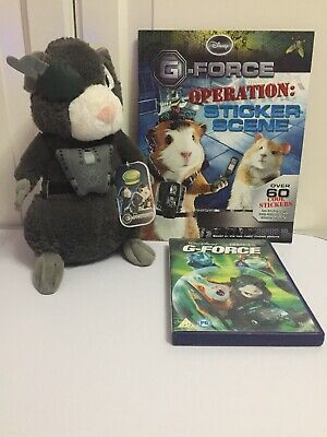 DVD G Force Soft Toy Blaster With Tag Operation Sticker Scene PB Book VGC • 14.85£