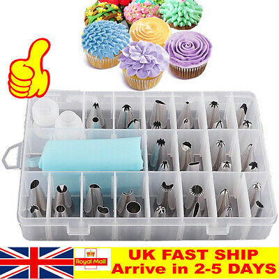 24pcs/set Russian Leaf Flower Icing Piping Nozzle Tips Cake Topper Baking Tools • 9.01£