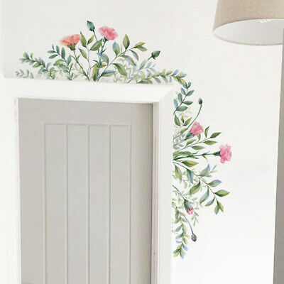 Removable Leaf Flowers Mural Wall Stickers Decal DIY Room Decor PVC Waterproof • 4.38£