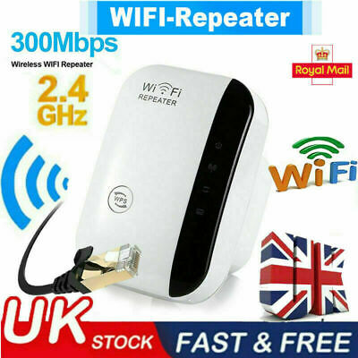 WiFi Signal Repeater Extender Range Booster Internet Network Amplifier UK Plug • 10.12£