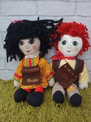 Rare Rosie & Jim Soft Toys Dolls Vintage Collectables Central Television Logo • 79.99£