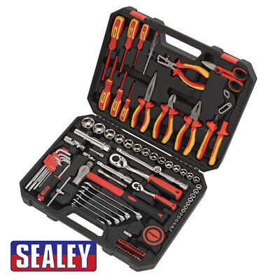 £167.01 • Buy Sealey Electricians Tool Kit 90 Pieces Supplied In A Sturdy Storage Case S01217