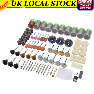 £9.85 • Buy 350x Rotary Drill Tool Accessories Craft Bits Polishing Kits For Dremel Grinding