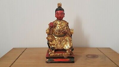 Chinese Wood Carving Statuepainted Home Decoration Figure  • 38£
