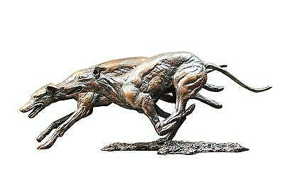 £275 • Buy Solid Bronze Dogs /Greyhounds (973) By Keith Sherwin Sculpture  REDUCED