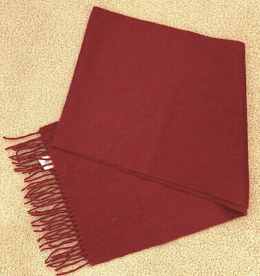 $89.75 • Buy BROOKS BROTHERS NWT 346 100% CASHMERE FRINGED SCARF BURGUNDY/RED 60X12, Scotland