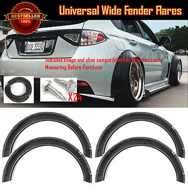 $99.88 • Buy 4Pc F+R Arch Carbon Effect 2.3  Wide Body Kit Fender Flares Extension For Subaru