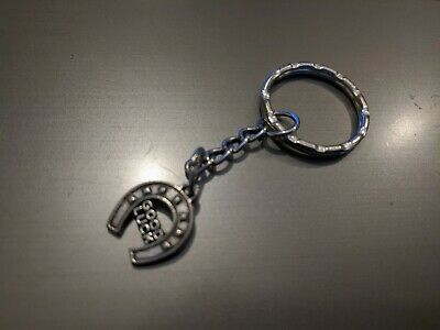 Silver Good Luck Horse Shoe Keyring Bag Tag Charm • 1£