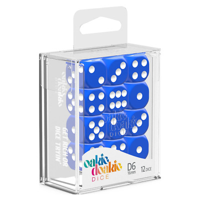 AU13.90 • Buy Oakie Doakie Dice D6 16 Mm Solid Blue 12pc