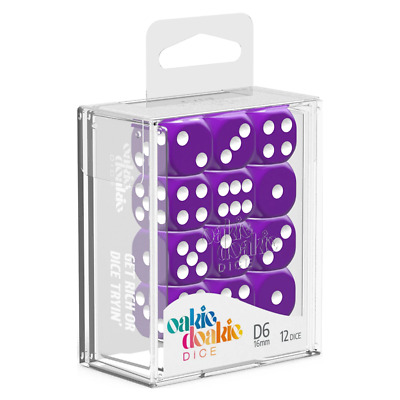 AU13.90 • Buy Oakie Doakie Dice D6 16 Mm Solid Purple 12pc