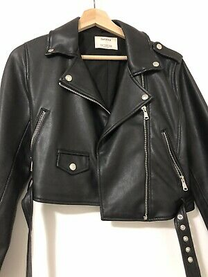 AU20 • Buy Bershka Womens Faux Leather Jacket