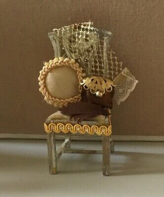 Dolls House Dressed Ladies Chair  • 3.50£