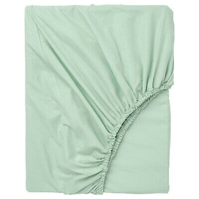 Ikea Dvala Fitted Sheet 100% Cotton Great Quality 4 Sizes [Light Blue] • 16£