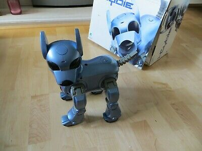 Tiger / Silverlit - Complete And Working I-Cybie Robot Dog In Metallic Blue • 75£