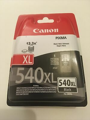 Canon PG-540XL Ink Cartridge - Black Unopened • 18.10£